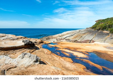 magnificent landscape with ocean and cliffs in the Royal National Park, Sydney NSW Australia