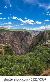 Magnificent landscape seen from Chasm view in Black canyon of the Gunnison National Park, North Rim, CO, USA