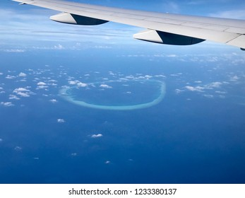 The magnificent Maldives view from the air