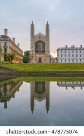 The magnificent medieval Chapel at King's College at sunrise in Cambridge, England