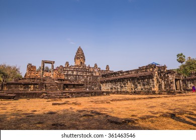 Magnificent morning view of the Bakong Temple in Angkor City