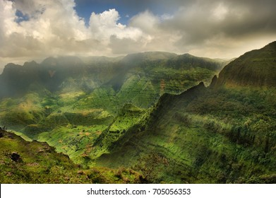 Magnificent mountain landscape. Simien mountains National Park. Ethiopia.