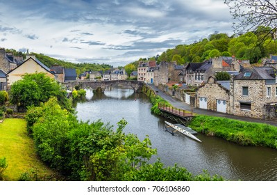 The magnificent old city of Dinan. Concept of Europe travel, sightseeing and tourism. Brittany (Bretagne), France