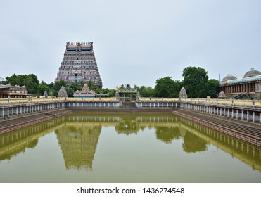 """""""Magnificent reflection of Northern tower and surrounding pavilions on the infamous Shivagangai pool located at the north side of Thillai Nataraja temple, Chidambaram, Tamilnadu, South India"""""""