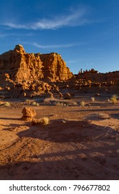 Magnificent vertical shot of Goblin Valley State Park near Moab Utah.