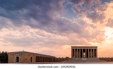 Magnificent view of Anitkabir at sunset