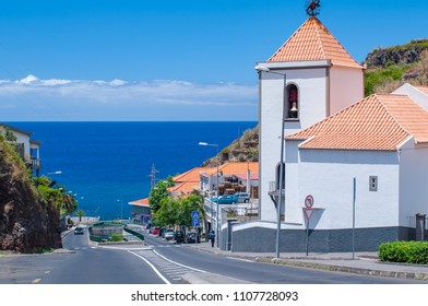 Magnificent views from the top of a typical coastal village. Madeira. Portugal