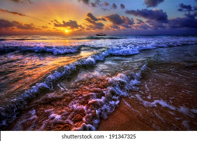 Magnificently colorful beach vacation sunrise 4