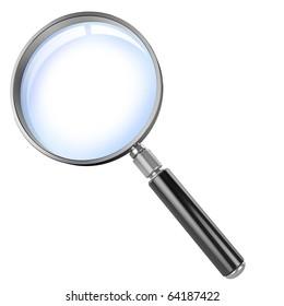 magnifier 3d illustration