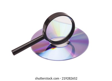 Magnifier glass and DVD