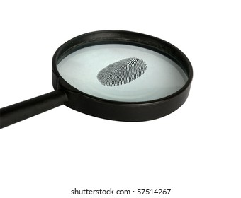 magnifier glass  isolated on white background