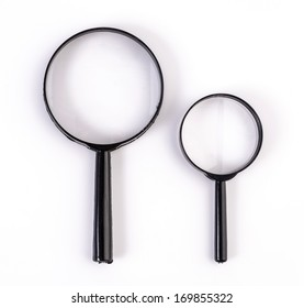 Magnifier on isolated white background