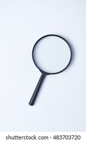magnifier on a white background