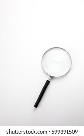 Magnifier on white background