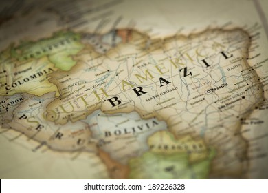 Magnifying Brazil on map