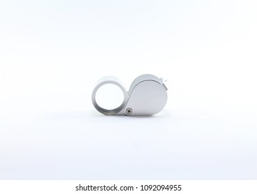 Magnifying Glass amulets isolated on white background