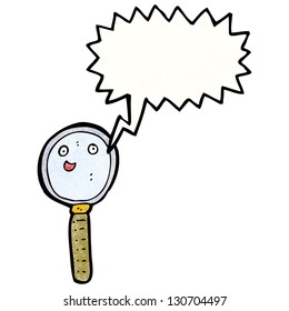 magnifying glass cartoon character
