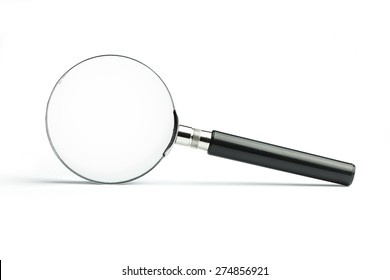 Magnifying Glass with Clipping Path.