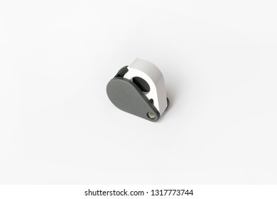 Magnifying glass for diamonds or see the amulet Isolated on a White Background. Eye Lens Magnifier.