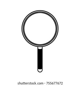 Magnifying glass icon; Outline search tool symbol