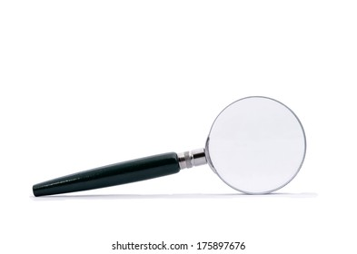 Magnifying glass isolated on white