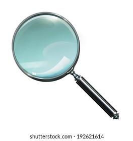 Magnifying Glass, Isolated On White Background,illustration