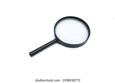 Magnifying glass isolated on white background - clipping path
