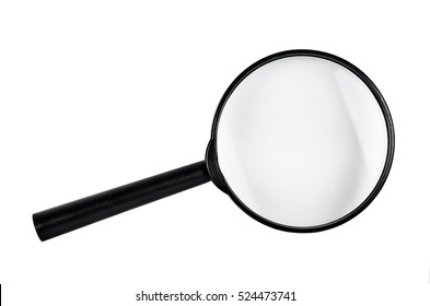 Magnifying glass isolated on white background, Saved Clipping path.