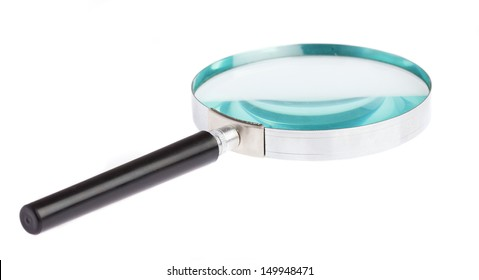 magnifying glass laying on a white background
