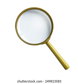 magnifying glass or loupe isolated with clipping path included