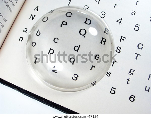 Magnifying Glass on type
