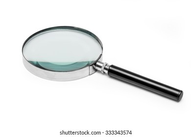 Magnifying glass on white background with clipping path