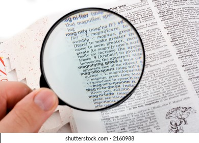 """Magnifying glass over the word """"magnifying glass"""""""