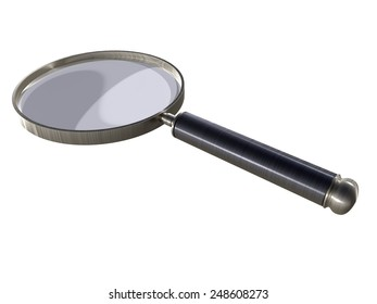 magnifying glass - perspective view - black handle