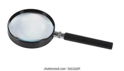 Magnifying glass,isolated on white with clipping path