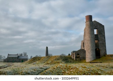 Magpie Mine. The ruins of an old lead mine in the Peak District, UK. The mine is reputed to be haunted by three men who died in sulphurous fires deliberately started underground by opposing miners.