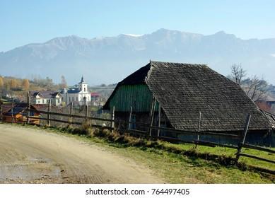 Magura mountain village, at 1000 m altitude, near Bran castle, Romania