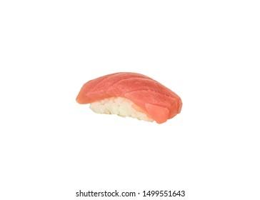 Maguro sushi nigiri japanese cuisine. isolated on white background