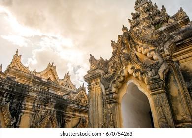 Maha Aung Mye Bon San Monastery Inwa Mandalay Myanmar