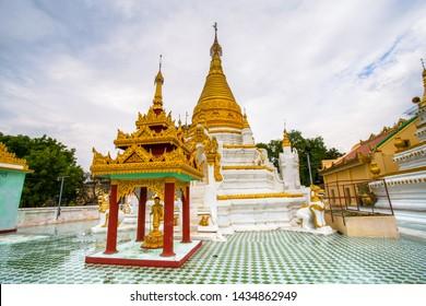 Maha Aungmye Bonzan Monastery, commonly known as the Me Nu Brick Monastery, a historic Buddhist monastery in Inwa, Mandalay region, Myanmar