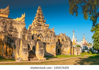 Maha Aungmye Bonzan Monastery complex, Inwa, Mandalay Region, Myanmar.
