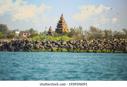Mahabalipuram Shore Temple from the sea. First attempt to view the monument from bay of bengal.