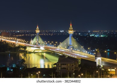 The Mahajadsadabhodin Bridge Bangkok in evening light