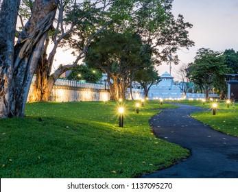 Mahakan Fort park in evening time, Bangkok, Thailand