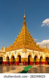The Mahamuni Buddha Temple, an important buddhist pilgrimage site in Mandalay, Myanmar