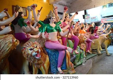 MAHARASHTRA, INDIA October 13, 2015: Durga Puja festival celebration on October 13, 2015 in Nagpur , Maharashtra, India