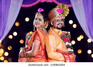 Maharashtrian Wedding Indian Couple Stock Photo Edit Now 1190861854