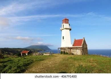 Mahatao or Tayid lighthouse on the island of Batan, Batanes, Philippines