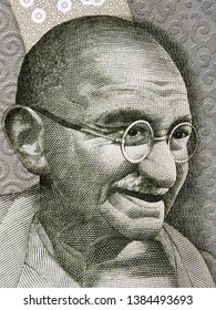 Mahatma Gandhi a portrait from Indian money