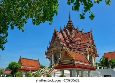 Mahattamangkhalaram Temple at Hatyai city Thailand .